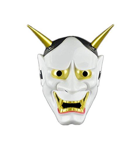 Máscara Facial Japonesa de la máscara Blanca de la Novedad del Partido de Halloween Máscara Negra de la mueca
