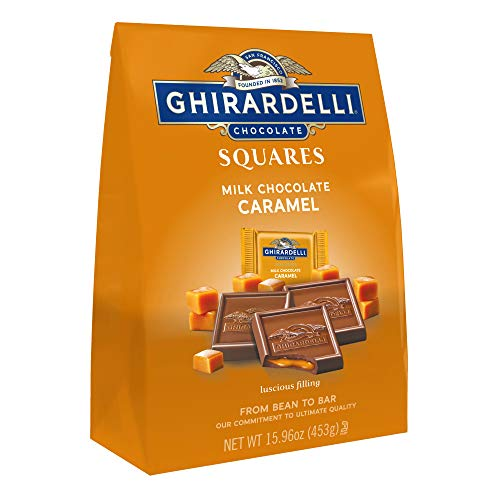 Ghirardelli Milk and Caramel Squares XL Bag, Milk Chocolate Caramel, 15.96 Oz