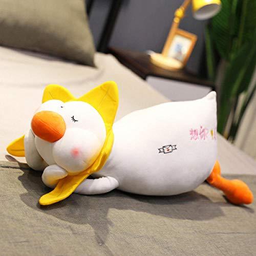 CPFYZH 45/65 / 88Cm muñeca de Pato de Combustible muñeca de Pato Juguetes de Peluche muñeca de Tela para niña Linda Almohada para Dormir-Quiero tu Pato_45 Cm