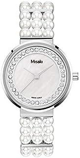 ميساكي ساعة رسمية نساء انالوج بعقارب لؤلؤ - QCRWELLAPEARL