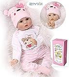 ZIYIUI Bambola Reborn 22 Pollici 55 cm Realistico Bambole Reborn Morbido Silicone Vinilico Reborn Dolls...