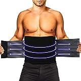HLOMOM Faja lumbar para apoyo lumbar, cinturón de apoyo con puntales de apoyo y correas ajustables para gimnasio, postura, levantamiento de pesas, trabajo, alivio del dolor (L-XL)