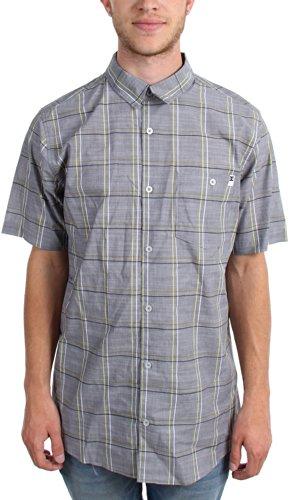 DC - - Carney traditionnelle chemise à manches courtes hommes, Medium, Black