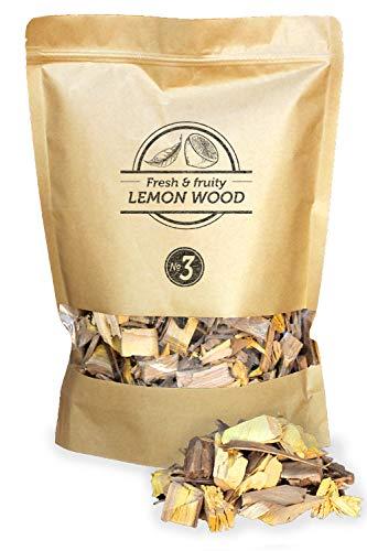 Smokey Olive Wood 1'7 litros, virutas de Madera de limonero para Barbacoa y ahumar, Talla 2-3cm
