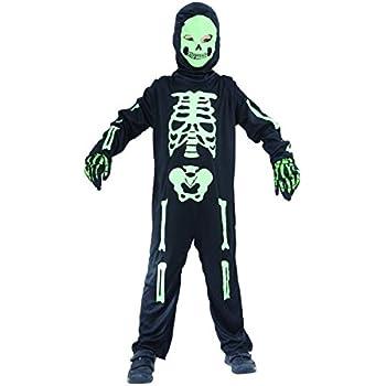 Disfraz de esqueleto verde niño - 4 - 6 años: Amazon.es: Juguetes ...