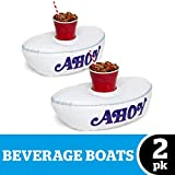 """BigMouth Inc. Stranger Things Scoops Ahoy Beverage Boats – Two Pack – 14"""" Inflatable Drink..."""