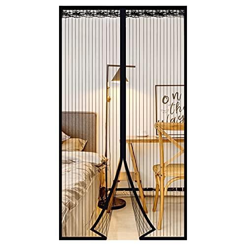 Cortina magnética para Puerta contra Mosquitos e Insectos 90x 210cm,Adecuadas para Puertas de Madera,Puertas de Balcón,Puerta de la Cocina,Sin Necesidad de Perforar.
