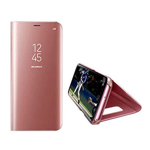 para Samsung Galaxy A520 A5 2017 Funda con Tapa giratoria, Funda para teléfono Funda antirreflejo Inteligente Transparente Vista en Espejo Funda con Tapa giratoria para Galaxy A5 2017 (4.7 Pulgada)