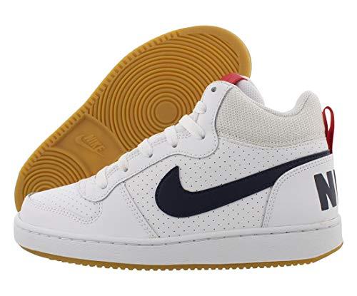 Nike Court Borough Mid (Gs) Scarpe da Basket Bambino, Bianco (White/Obsidian/Univ Red/Gum Lt Brown 107), 39 EU