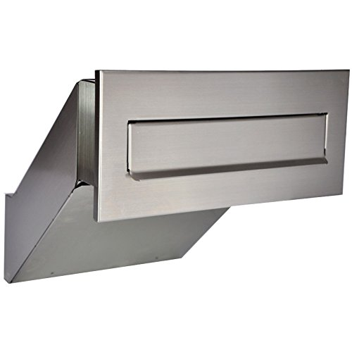 Mauerdurchwurf Briefkasten 100% Edelstahl V2A NEU Einbaubriefkasten NEU XXL Stainless Steel
