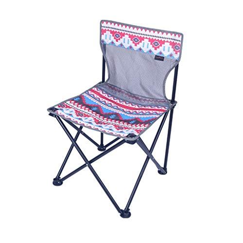 WJP Tabouret Se Pliant portatif extérieur de pêche, Chaise de Camping Se Pliante - 45 × 45 × 65cm