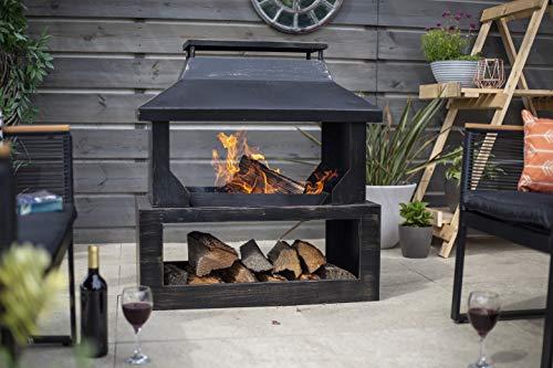 La Hacienda Stonehurst Steel Outdoor Fireplace