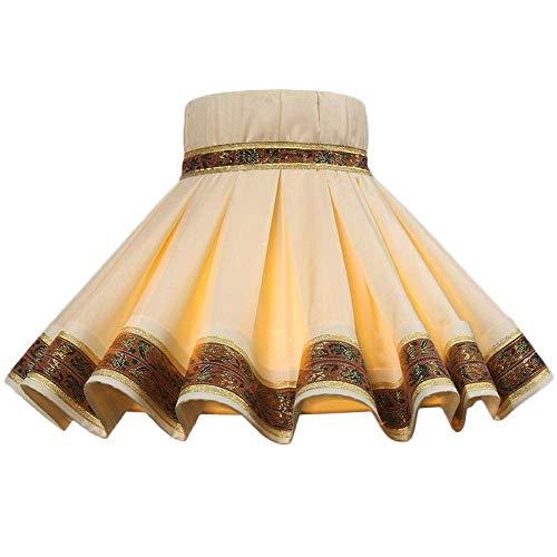 ADSE Pantalla, Vestido de Princesa con Forma Especial, Pantalla de lámpara de pie, Pantalla de Tela Francesa, Boca de Tornillo E27, 45cm