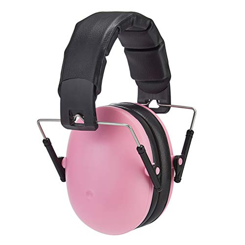 Amazon Basics Kids Ear-Protection Safety Noise Earmuffs, Pink