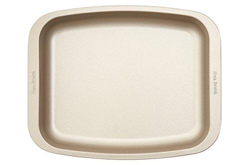 Premier Housewares From Scratch geroosterde pan, satijn champagne koolstofstaal, 25,6 x 32 x 3,8 cm