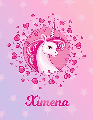 Ximena: Unicorn Sheet Music Note Manuscript Notebook Paper – Magical Horse Personalized Letter X Initial Custom First Name Cover – Musician Composer … Notepad Notation Guide – Compose Write Songs