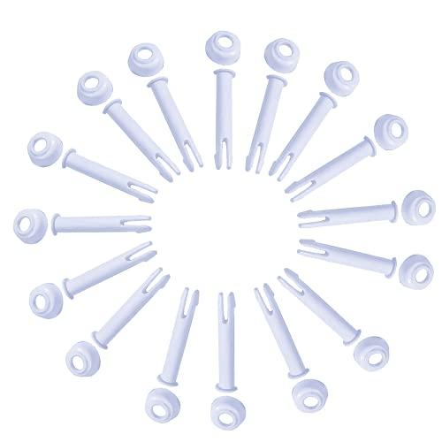 Clavijas de sellado para piscinas, clavijas de chaveta para piscina, 16 clavijas de sellado de plástico para piscinas, repuestos para piscinas, clavijas de chaveta para piscina con marco Intex