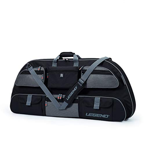 Legend - Apollo 40 Compound Bow Case (40' Inside Length) | Unrivaled Bow and Archery Equipment Protection in a Lightweight Portable Carrying Case | Pockets for All Your Accessories | (Black/Grey)