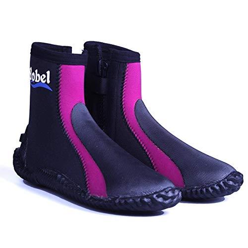 N-B Botas de buceo, 5 mm, neopreno, protección vulcanizada, protección contra el frío invernal, alta calidad, arpón