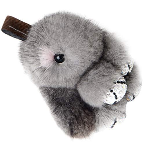 Wakauto Plüsch Kaninchen Schlüsselbund Flauschigen Weichen Hasen Schlüsselanhänger Weihnachten Schlüsselring Hängen Anhänger Anhänger für Weihnachten Geschenke Tasche Handtasche Geldbörse