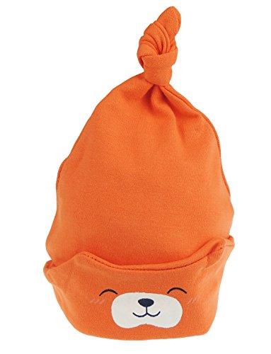 Glamour Girlz Ours en peluche pour bébé fille ou garçon - Bonnet pliable - Pour nouveau-né à 24 mois - Orange