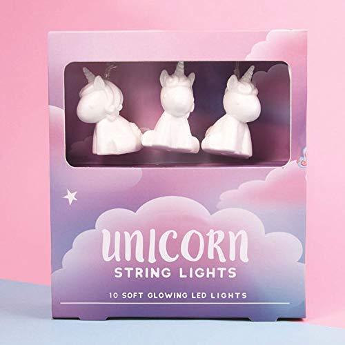 Fizz Creations Unicorn String 10 LED Illuminated Lights, White, 200cm