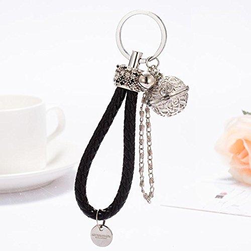 MZP version coréenne du sac exquise Creative corde corde forage BV palais anneau de clé de voiture de cloche Pendentif tissé à la main femme belle , d