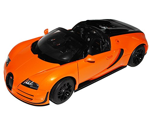 rastar Bugatti Veyron 16.4 Grand Sport Vitesse Orange Schwarz 1/18 Modell Auto