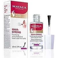 Mavala Mava-Strong Endurecedor de Uñas para Fortalecer Uñas Quebradizas o Rotas | Base Protectora para las Uñas Blandas,10 ml