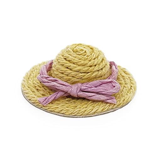 Odoria 1/12 Miniatura Sombrero de Paja/Sol Decorativo para Casa de Muñecas