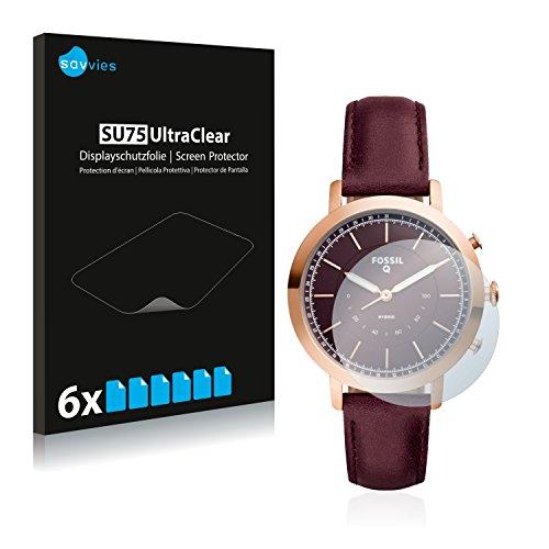 Savvies 6X Schutzfolie kompatibel mit Fossil Q Neely Bildschirmschutz-Folie Ultra-transparent