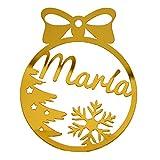 Pack de 4 bolas de Navidad personalizadas para árbol. Adornos...