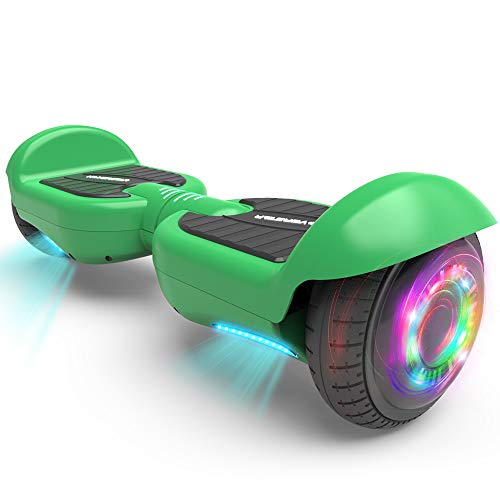 """HOVERSTAR All-New HS2.0 Hoverboard 6.5"""" Two-Wheel Self Balancing Flash Wheel Electric Scooter (Green)"""