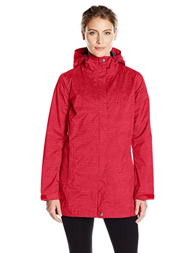 Columbia Women's Splash A Little Rain Jacket, Red Camellia Dotty Dye Print, X-Large