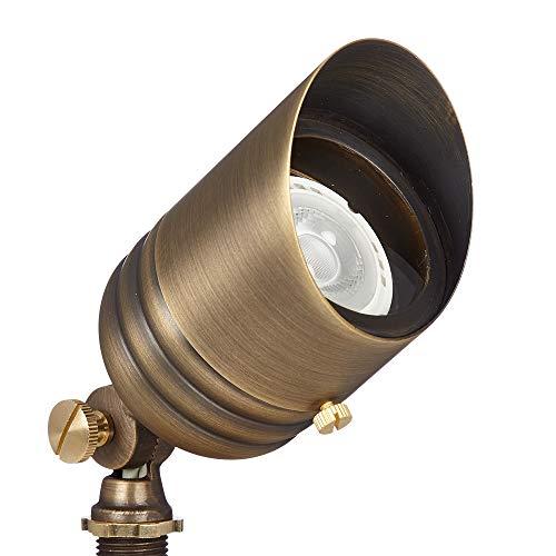 VOLT Fat Boy 12V Brass Outdoor Spotlight (Bronze) with Ground Stake