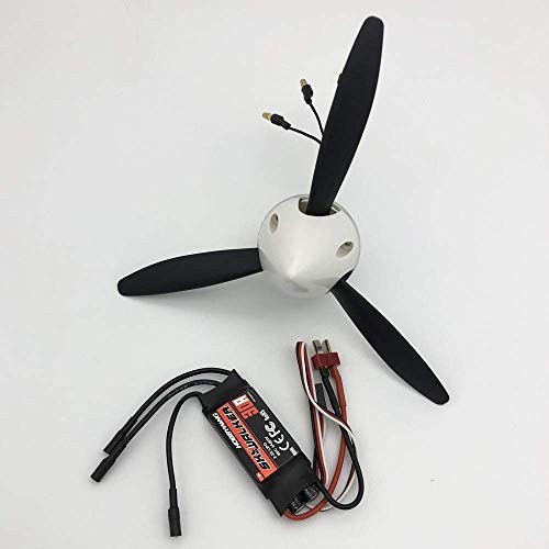 Zhusha Propeller 8060 8x6x3 Blade Hélice con Sistema de Potencia del Motor para RC Scale Warbird Plane DIY Drone Accesorios (Color: Pro Spin Motor 3) ( Color : Pro spin Motor 3 )