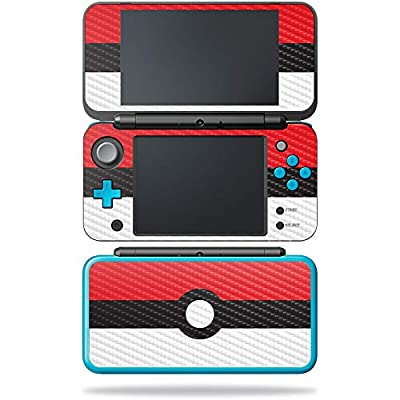 MightySkins Carbon Fiber Skin for Nintendo New 2DS XL - Battle Ball   Protective, Durable Textured Carbon Fiber Finish   Easy to Apply, Remove, and Change Styles   Made in The USA