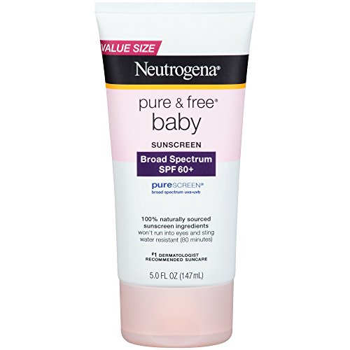 Neutrogena Pure and Free Baby Sunscreen Lotion Broad Spectrum SPF 50, 5 Fl. Oz