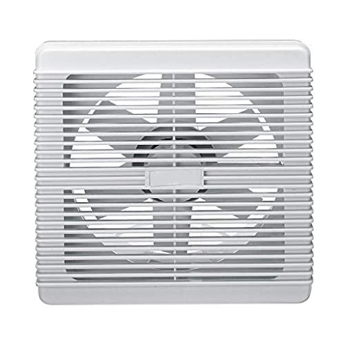 QZH Extractor de baño Impermeable de 4/6/8 Pulgadas Ventilador de Escape Ventilador silencioso Ventilador Fuerte para Ventiladores de ventilación de Ventana de Inodoro de Cocina 220 V ((4 pulgad