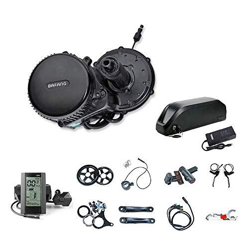 Bafang BBS02 48V750W Kit de Conversion pour Moteur de Bicyclette électrique avec Batterie Li-ION 48V 17.5AH et Chargeur 2A C965-44T