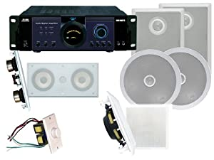 """Pyle PDIWCS56 In-Wall//Ceiling Dual 5.25/"""" Center Channel Speaker System-White"""