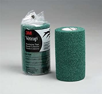 Provides a great combination of softness strength and conformability William Hunter Equestrian 3M Vetrap/™ Small Animal Cohesive Bandage bond together to provide maximum support.