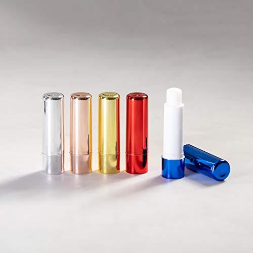 Lote de 30 Bálsamos Labiales Metalizados Aroma Vainilla - Bálsamos Labiales Lip Gloss Barra - Detalles de Boda, regalos de empresa, reclamos publictarios, regalos navidad
