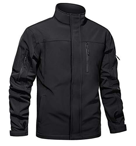 TACVASEN Men's Tactical Jacket Water Resistant Soft Shell...