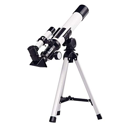 SKSNB Telescopio Grande y asequible de 40 mm, Apertura de 400 mm, Montaje AZ, refactorización de la Apertura del telescopio astronómico para niños, Adultos y Principiantes, refactor Port