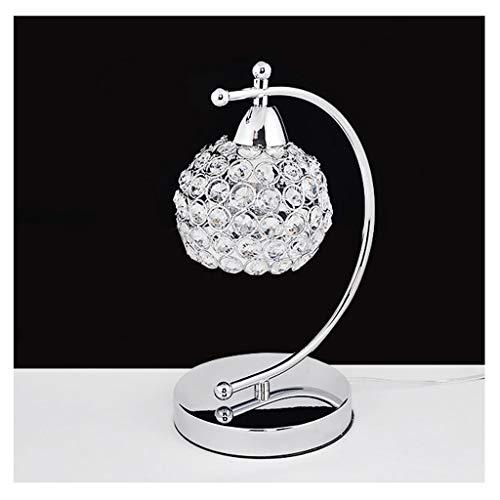 DTZW Tischlampe Moderne Warme Nachttischlampe, Wohnzimmer Rund Um Globus Glas Lampenschirm Studie Liest Studie Dekoration Schlafzimmer Kleine Kristalllampe 07/03 (Size : Switch Button)
