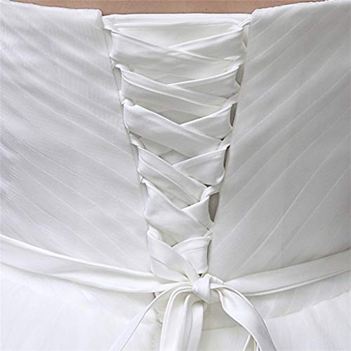 VIccoo Hochzeitskleid Band, 118-Zoll-Brautkleid Reißverschluss Ersatz verstellbare Korsett-Rücken Kit Schnür Satin Band Krawatten für Braut Bankett Abendkleid - 1