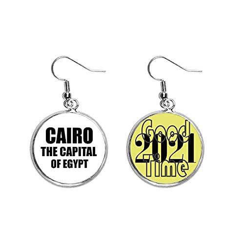 El Cairo La Capital De Egipto Pendientes Pendientes Pendientes Pendientes Joyería 2021 Buena Suerte