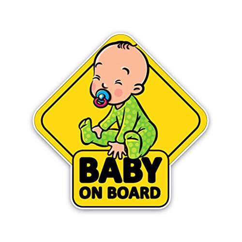 Mikiya Abstand halten Warnung Aufkleber Auto-Aufkleber Baby an Bord Aufkleber Kinder Sicherheit Reflektierende Träger-Auto-Schilder Selbstklebe-Warnung Aufkleber für Fahrer