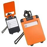 Generic IDAY equipaje LA UITCASE - 5X nombre percoladora HOLIDAY equipaje etiqueta naranja maletas IDAY formada como equipaje LA - 5X nombre ADDRE